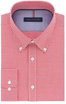 Tommy Hilfiger Men's Non Iron Slim Fit Gingham Buttondown Collar Dress Shirt