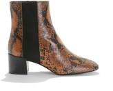Anaki Snake Print Heeled Leather Boots