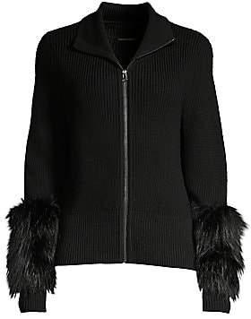 Elie Tahari Women's Norah Silver Fox Fur & Merino-Wool Sweater