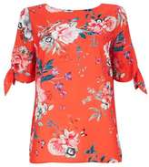 Wallis Orange Floral Print Shell Top
