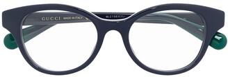Gucci Logo-Detail Cat-Eye Glasses