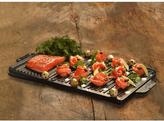 Lava ECO 10-1/2 in. x 19-3/4 in. Enameled Cast Iron Reversible Grill and Griddle Pan in Slate Black
