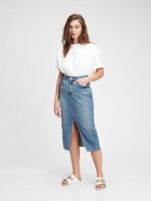 Gap Denim Midi Pencil Skirt