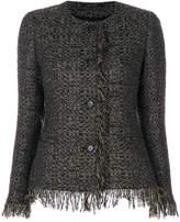 Tagliatore fitted tweed jacket