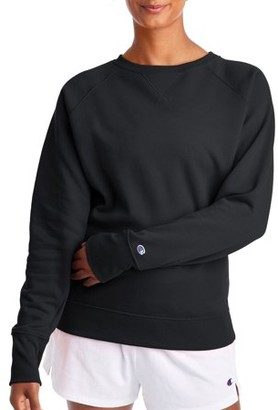 Champion Women's Powerblend Fleece Boyfriend Crew Neck Sweatshirt