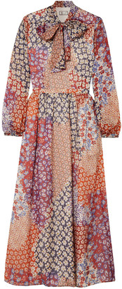Paul & Joe Dalida Pussy-bow Floral-print Silk-chiffon Midi Dress