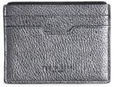 Rag & Bone Women's Textured Buffalo Leather Card Case - Metallic