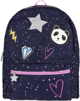 Accessorize Applique Panda Badge Backpack