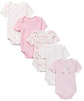 Rene Rofe Bunny Bodysuits - Pack of 5 (Baby Girls)