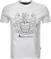 Aquascutum London Aldis Logo T Shirt White