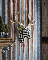 Mackenzie Childs MacKenzie-Childs Courtly Check Small Deer Wall Mount