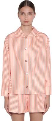 Kenzo Striped Cotton Poplin Shirt