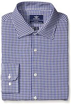 Dockers Navy Check Fitted Shirt - Spread Collar