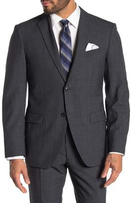 John Varvatos Grey Birdseye Two Button Notch Lapel Wool Suit Separates Jacket