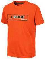 57966d35d7e85 Colosseum Big Boys Miami Hurricanes Boxed Logo Polyester T-Shirt  20 at  Macy  x27