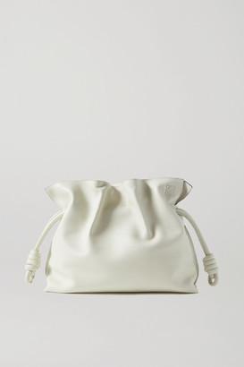 Loewe Flamenco Leather Clutch - Off-white