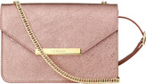 LK Bennett Karla metallic leather shoulder bag