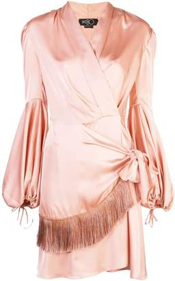 PatBO wrap front dress
