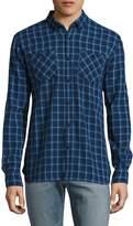 Woolrich Men's Checkered Cotton Sportshirt