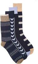 Lucky Brand Men's Bar Color Block Men's Crew Socks - 4 Pack