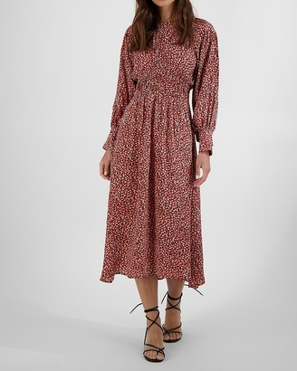 Express Bb Dakota Printed Smocked Waist Midi Dress