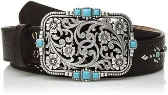 Nocona Belt Company Belt Co. Women's Stud Center Turquoise Cutout Buckle