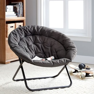 Pottery Barn Teen Recycled Blend Chenille Washed Charcoal Hang-A-Round Chair