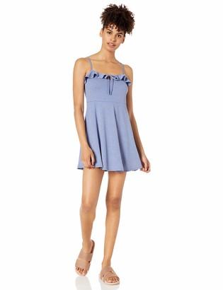 Speechless Womens Ruffle Top Day Dress