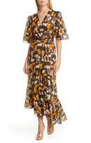 Johanna Ortiz Floral Print Maxi Wrap Dress