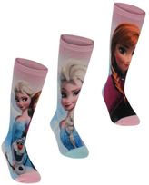 Character Kids 3 Pack Socks Frozen Anna Elsa Casual Accessories