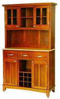 Home Styles Wine Rack Buffet with 2 Door Hutch Wood/Oak/Natural