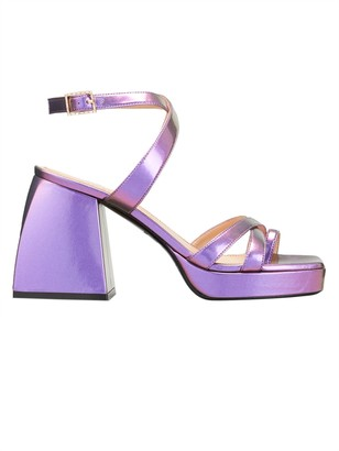 Nodaleto Purple Bulla Siler Block Heel Sandal