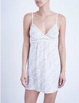 Eberjey Stargazing jersey and lace chemise