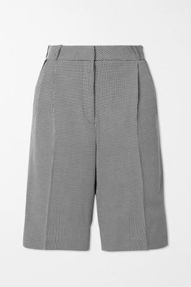 Coperni Houndstooth Cotton Shorts - Black