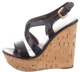 Prada Platform Wedge Sandals