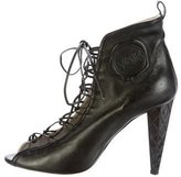 Viktor & Rolf Leather Lace-Up Booties