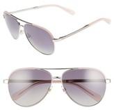 Kate Spade Women's Amarissa 59Mm Polarized Aviator Sunglasses - Silver/ Pink