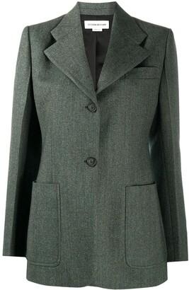 Victoria Beckham Single-Breasted Wool Blazer