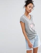 Converse V-Neck T-Shirt With Metallic Logo