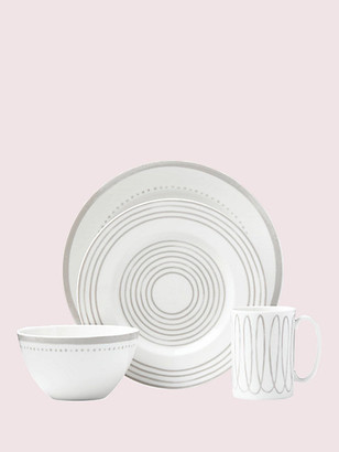 Kate Spade Charlotte Street West Char Grey West 4 Piece Place Setting