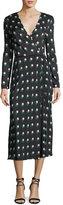 Diane von Furstenberg Long-Sleeve Printed Wrap Dress