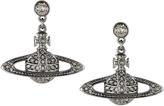 Vivienne Westwood Mini Bas Drop Earrings Black Diamond