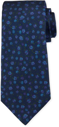 Kiton Men's Mini Floral Silk Tie