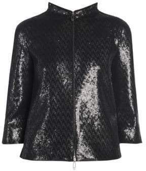 Giorgio Armani Sequin Zip-Up Jacket
