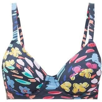 Araks Yelena Floral-print Underwired Bikini Top - Womens - Black Print