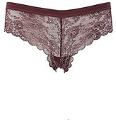 Charlotte Russe Metallic Scalloped Lace Cheeky Panties