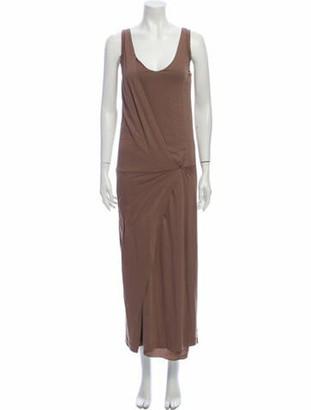Brunello Cucinelli Scoop Neck Long Dress