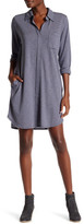 Allen Allen Stripe 3/4 Length Sleeve Shirt Dress