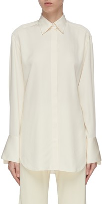 The Row 'Cody' enlarged cuff silk shirt