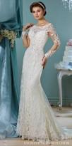 Mon Cheri Enchanting Long Sleeve Embroidered Wedding Dress